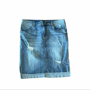 Kut from the Kloth denim distressed skirt size 12